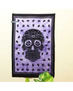 Purple Skull Fabric Poster