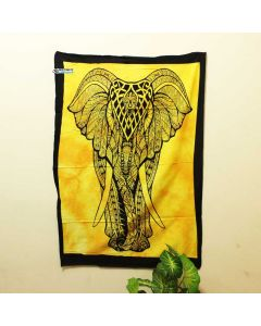 Yellow Big Elephant Poster