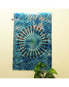Turquoise Hibiscus poster