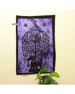 Purple Elephant Tree Poster
