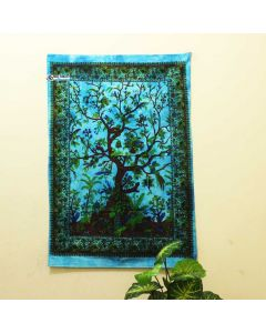 Turquoise Tree of Life Poster