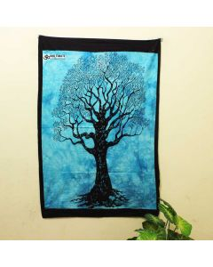 Turquoise Lucky Tree Poster