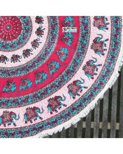 Freethinker Large Round Blanket - Small Fringe