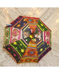 Embroidered Indian Parasol
