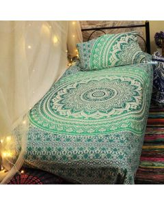 Emerald Twin Duvet Cover With Pillow Set
