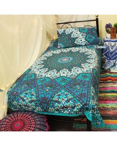 Blessing Twin Duvet Cover With Pillow Set