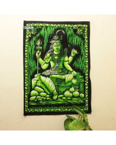 Green Mahadev Brush Paint Poster