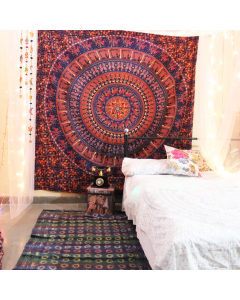 Large Elephant Hippie Wall Tapestry