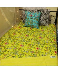 Yellow Paradise Kantha Quilt