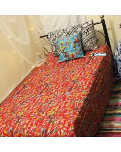 Red Bird Kantha Quilt