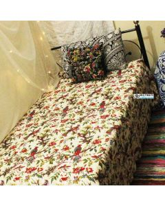 White Bird Kantha Quilt