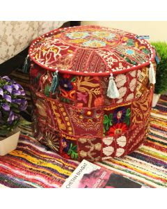 Maroon Embroidered Ottoman Ethnic cushions