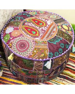 Purple Pouf Cover