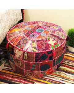 Pink Pouf Cover