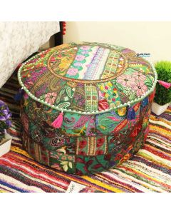 Green Pouf Cover
