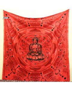 Red Buddha Large Tapestry