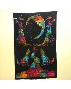 Moon  Tie Dye Small Tapestry
