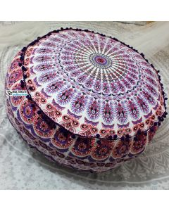 Delight Pouf Cover - Pom Pom