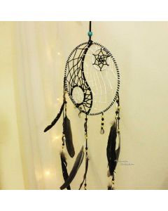 Black and White Yin Yang dream catcher