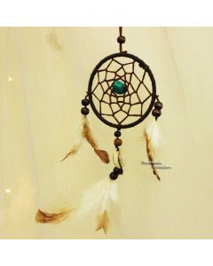 Turuoise Floral Dream catcher