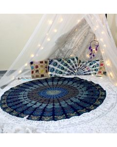 Virtue Large Round Blanket - Large Fringe