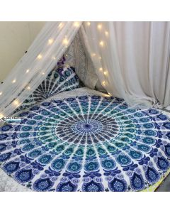 Sea Large Round Blanket - Classic