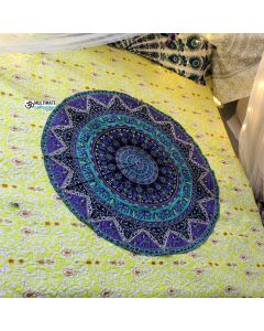 Small Elephant Bohemian Bedspread Roundie