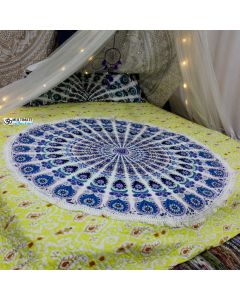 Blissful Small Round Blanket - Small Fringe