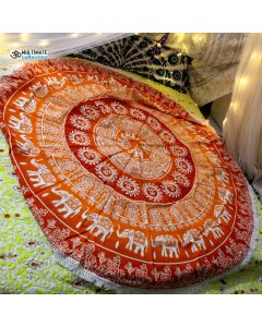 Alisa Large Round Blanket  - Small Fringe