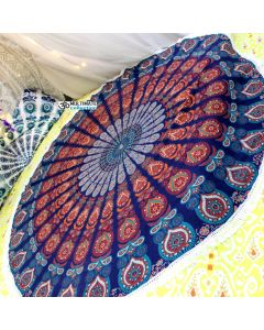 Prosperity Large Round Blanket - Small Fringe