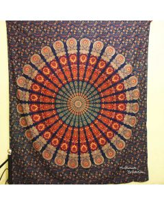 Indian Peacock large wall Tapestry