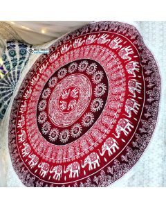 Ahana Large Round Blanket - Small Fringe