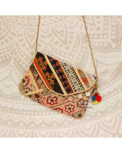 Beige Indian Handbag ethnic clutch