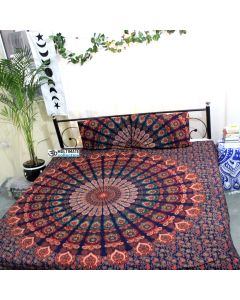 Earthy Queen Duvet Cover With Pillow Set