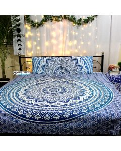 Sapphire Queen Duvet Cover With Pillow Set