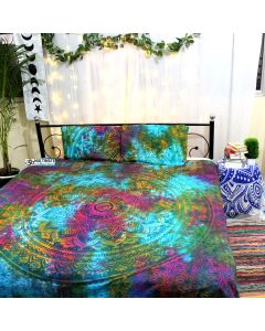 Rainbow Queen Duvet Cover With Pillow Set
