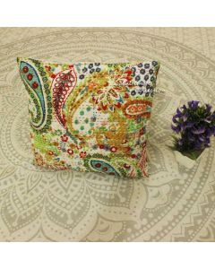 Biege Paisley Decorative Pillow