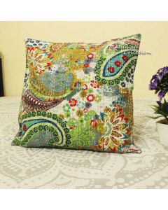 Grey Paisley Decorative Pillow
