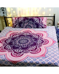 Saraswati Queen Duvet Cover With Pillow Set