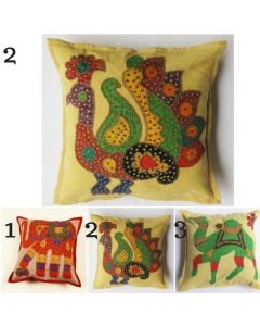 Animal bird patchwork embroidered Cushion Cover