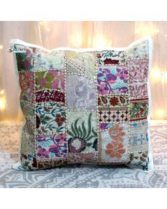 White Vintage Collage Cushion Cover 16 inch x 16 inch