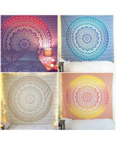 Floral ombre wall tapestry