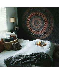 Mandala Parade Queen Tapestry