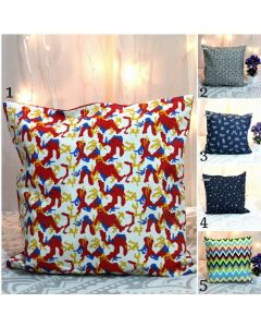 16 inches Cotton Printed Cushion Cover