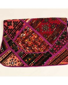 Purple Vintage Indian Handbag
