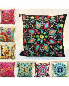 16 inches Suzani Embroidered Decorative Pillow