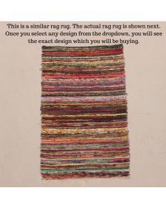 Multi Color Rag Rug Meditation Mat