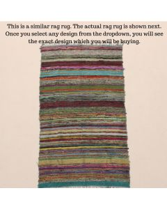 Threadbare Rag Rug Meditation Mat