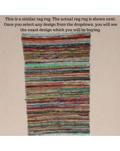 Beautiful Rag Rug Meditation Mat