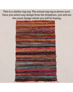 Bright Rag Rug Meditation Mat